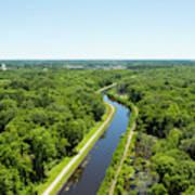 Aerial View Of Vegetation On Landscape Art Print