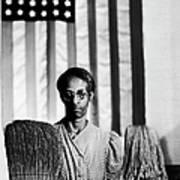 African American Cleaning Woman Ella Art Print