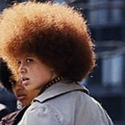 Afro Hairstyle In United States In Art Print