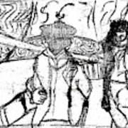 After Billy Childish Black Oil Drawing B2-5 Art Print