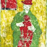 After Billy Childish Painting Otd 23 Art Print