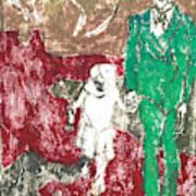 After Billy Childish Painting Otd 43 Art Print