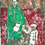 After Billy Childish Painting Otd 45 Art Print