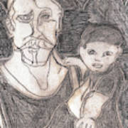 After Billy Childish Pencil Drawing 19 Art Print