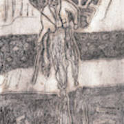 After Billy Childish Pencil Drawing 24 Art Print