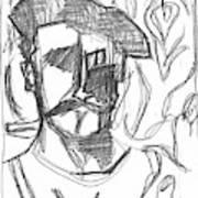 After Billy Childish Pencil Drawing B2-4 Art Print