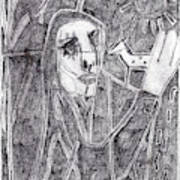 After Childish Edgeworth Pencil Drawing 10 Art Print