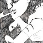 After Mikhail Larionov Pencil Drawing 4 Art Print