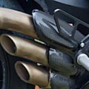 Agusta Racer Pipes Art Print