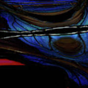 Aile De Papillon Bleu Art Print