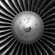Airliner Engine Fan Art Print
