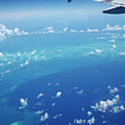 Airplane View Of The Caribbean Art Print
