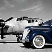 Airplanes And Cars Art Print