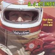 A.j. Foyt, 1981 Indy 500 Qualifying Sports Illustrated Cover Art Print