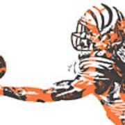 Aj Green Cincinnati Bengals Pixel Art 40 Art Print