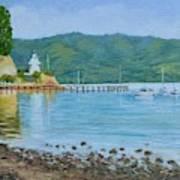 Akaroa Yacht Club Art Print