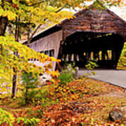 Albany Covered Bridge Near Conway, New Art Print