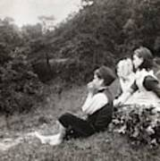 Alexander Keighley - Children On A Picnic, Ca 1890 Art Print