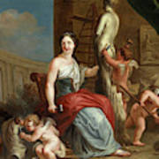 Allegory Of Sculpture And Architecture Art Print