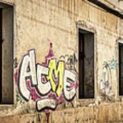 Alley Graffiti And Windows - Romania Art Print