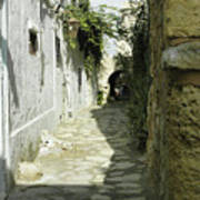alley in Hammamet, Tunisia Art Print
