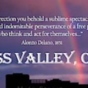 Alonzo Delano Grass Valley Quote Art Print