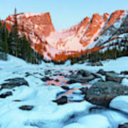 Alpenglow At Dream Lake Rocky Mountain National Park Art Print