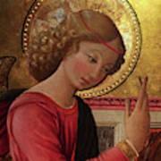 Altarpiece Angel Antique Christian Catholic Religious Art Art Print