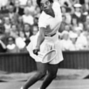 Althea Gibson Playing Tennis Art Print