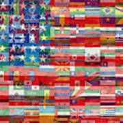 American Flags Of The World Art Print