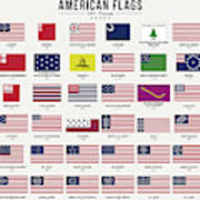 American Flags Art Print