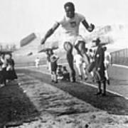 American Hubbard Wins Olympic Long Jump Art Print