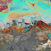 American Indian Home In Abstract Art Print