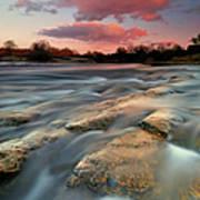 American River Parkway At Sunset Art Print