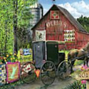 Amish Quilts Art Print