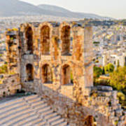 Amphitheater Of The Acropolis Of Art Print