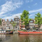 Amsterdam Prinsengracht Houseboats Art Print