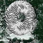 An Abstract Wooden Sculpture Art Print