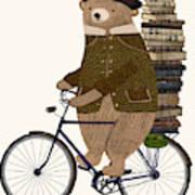 An Educated Bear Art Print