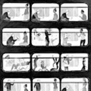 An L Train Love Story Art Print