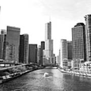 An Unknown Skyline Along The Chicago Art Print