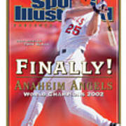 Anaheim Angels Troy Glaus, 2002 World Series Champions Sports Illustrated Cover Art Print
