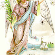 Angel  Carrying A Palm Branch Art Print