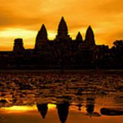 Angkor Wat At Sunrise Art Print