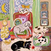 Animal Family 1 Art Print