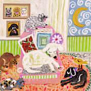 Animal Family 2 Art Print