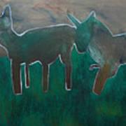Animals In A Field Art Print