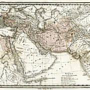 Antique Map Of Alexander The Greats Art Print