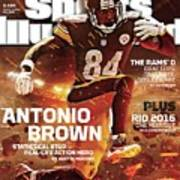 Antonio Brown 2015 Nfl Fantasy Football Preview Issue Sports Illustrated Cover Art Print