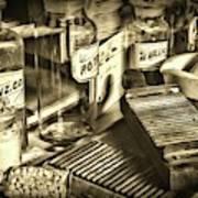 Apothecary-vintage Pill Maker Sepia Art Print